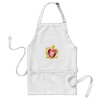 Avental coração da morango