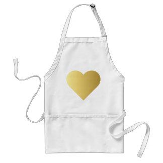 Avental Coração elegante do ouro do falso