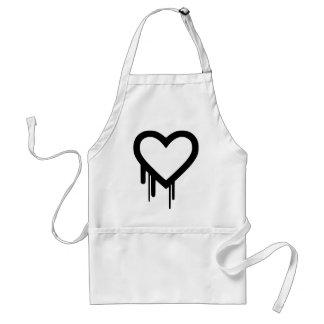 Avental Coração preto do gotejamento de Heartbleed