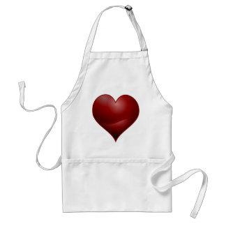 Avental Coração vermelho