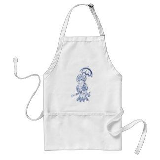 Avental Coruja decorativa azul