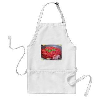 Avental Cozinhando o molho de tomate caseiro