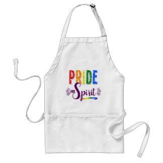 Avental Cozinhe acima algum arco-íris do orgulho e do