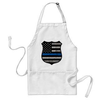 Avental Crachá Blue Line da polícia
