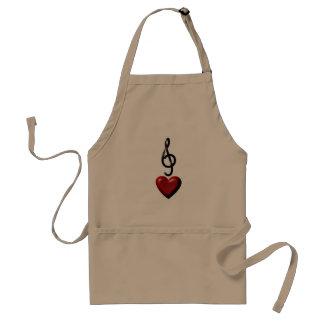 Avental da cozinha da música do amor