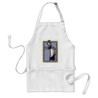 Avental da empregada doméstica do vintage