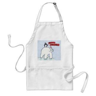 Avental da neve do Natal do urso polar