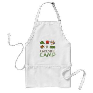 Avental de acampamento personalizado de salão de