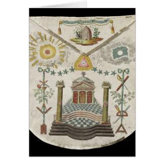 Avental de um mestre do alojamento do Santo-Julien Cartão Comemorativo