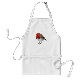 Avental Desenho bonito do pisco de peito vermelho