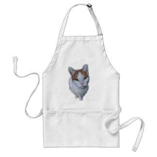 Avental Desenho do branco e da laranja do gato