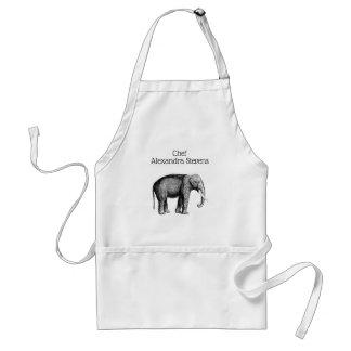 Avental Desenho do elefante do vintage