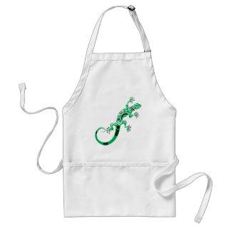 Avental Desenho do lagarto verde