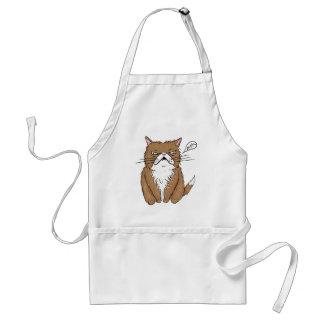 Avental Desenho mal-humorado engraçado do gato de Meh