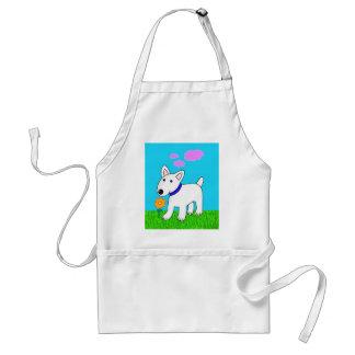 Avental Desenhos animados bull terrier que cheira um
