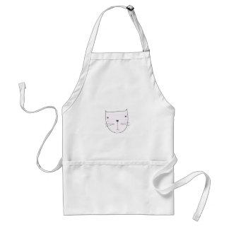 Avental Design bonito do gatinho no branco
