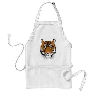 Avental Design do impressão da cabeça do tigre