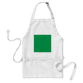 Avental Design do verde de esmeraldas