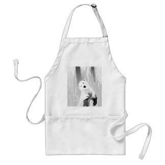 Avental Design preto e branco original do urso polar