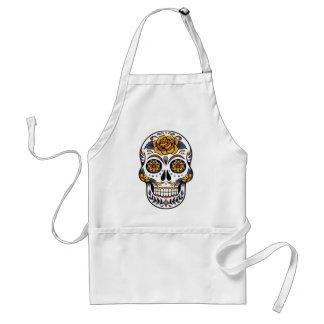 Avental Dia mexicano do crânio do morto