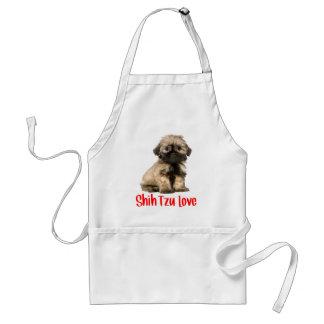 Avental do cão de filhote de cachorro do amor de