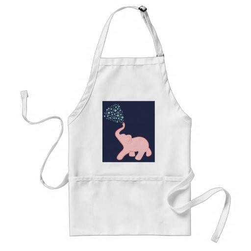 Avental do chá da estrela do elefante do bebê