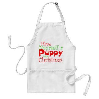 Avental do feriado do Natal do filhote de cachorro