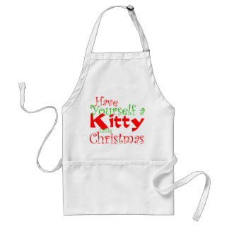 Avental do feriado do Natal do gatinho