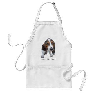 Avental do filhote de cachorro de Basset Hound
