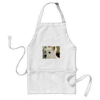 Avental do filhote de cachorro de Bichon Frise