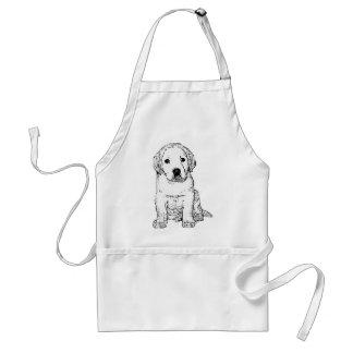 Avental do filhote de cachorro de Labrador
