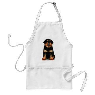 Avental do filhote de cachorro de Rottweiler