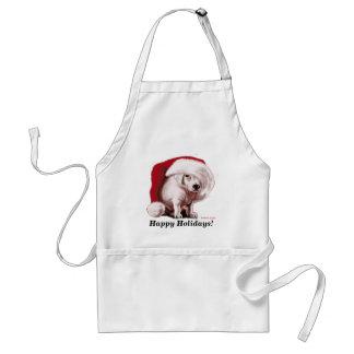 Avental do filhote de cachorro do Natal
