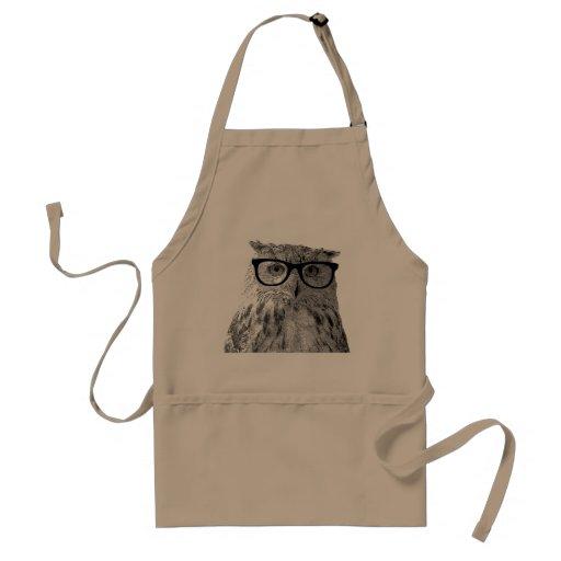Avental do hipster com imagem engraçada da coruja