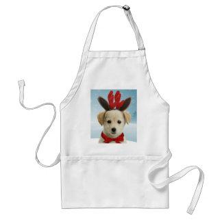 Avental do Natal do filhote de cachorro da rena
