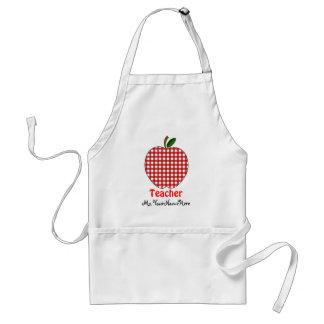 Avental do professor - guingão vermelho Apple