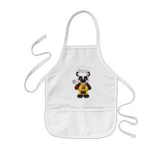 Avental dos desenhos animados do urso de panda do