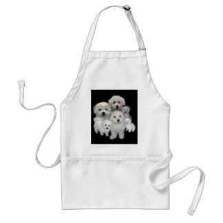 Avental dos filhotes de cachorro de Bichon Frise
