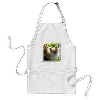 Avental dos filhotes de cachorro de Pomeranian
