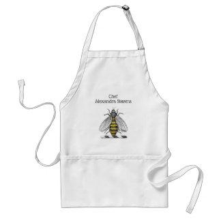 Avental Emblema heráldico formal C da brasão da abelha do