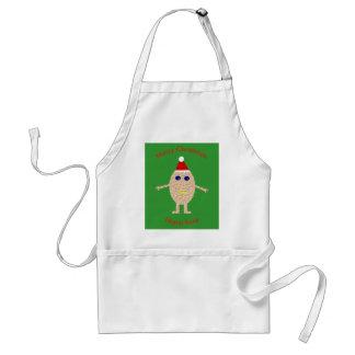 Avental engraçado do cozinhar do ovo do Natal