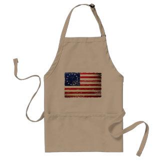 Avental esfarrapado vintage da bandeira americana