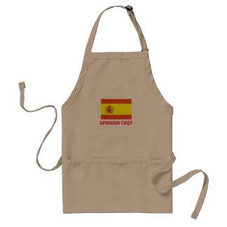 Avental espanhol do padrão do cozinheiro chefe