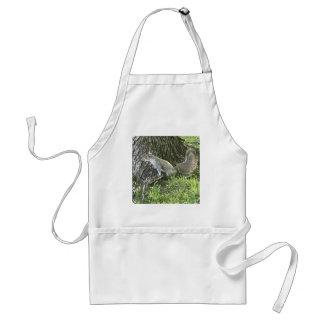 Avental Esquilo ao lado de uma árvore com grama verde