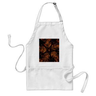 Avental Estrela Kaleidoscopic escura elegante de Brown do