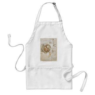Avental Estudos de Leonardo da Vinci do feto no ventre