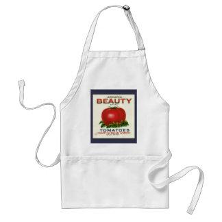 Avental Etiqueta da caixa da fruta do vintage, tomates da