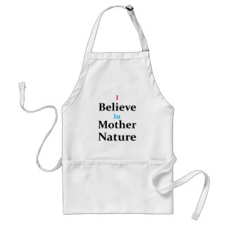 Avental Eu acredito na mãe Natureza