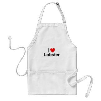 Avental Eu amo a lagosta do coração