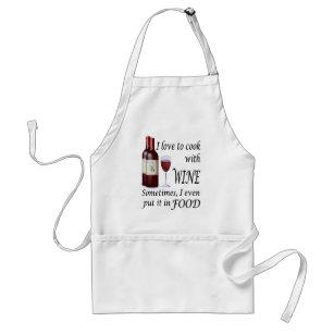 Avental Eu amo cozinhar com vinho - mesmo na comida